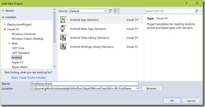 MVX=0 : A first MvvmCross Application (MVX+1 days of