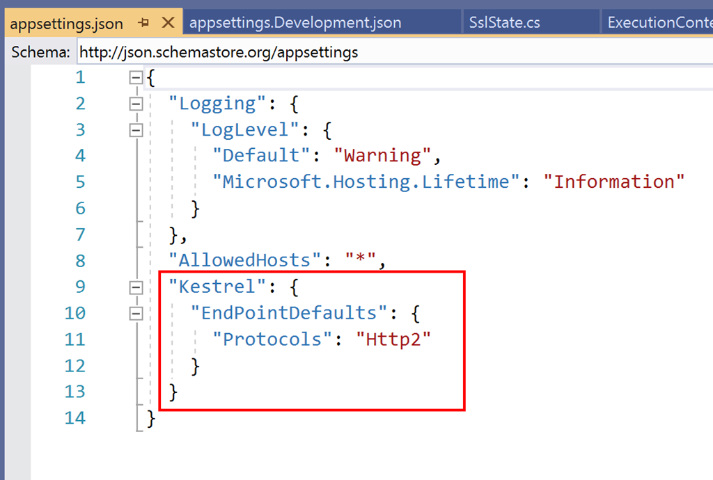 Testing ASP NET Core Web API on Kestrel with Fiddler