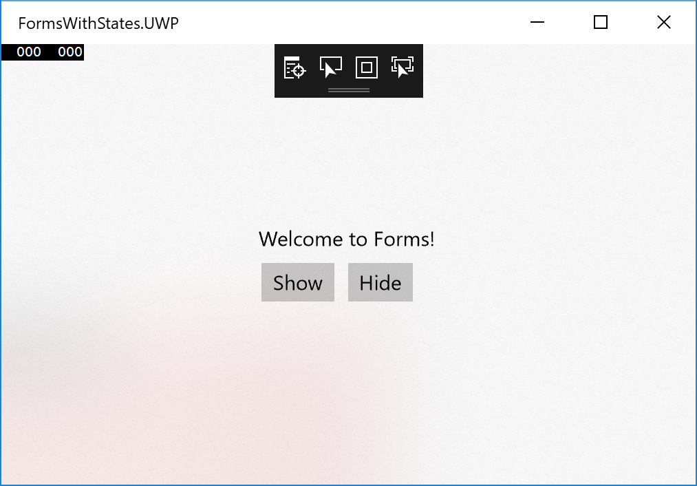 Adding Fluent Design Acrylic Material to UWP via Xamarin Forms