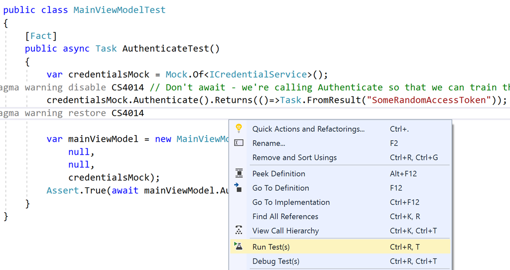 Getting Started with Xamarin Forms and Unit Testing with