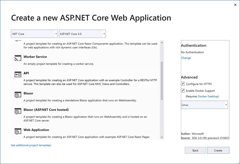 Debugging ASP NET Core with Visual Studio and Docker Desktop
