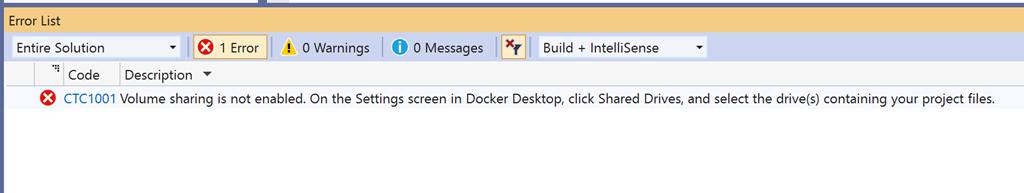Debugging ASP NET Core with Visual Studio and Docker Desktop