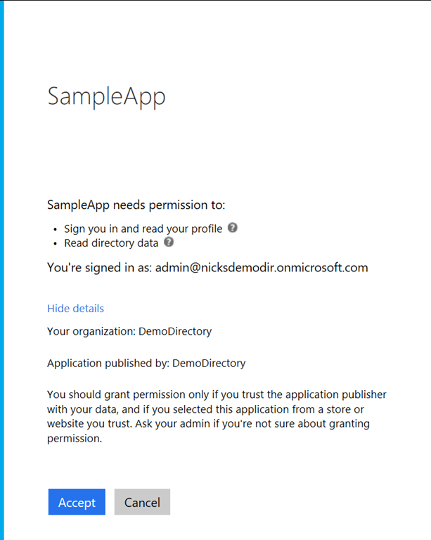 Admin Consent for Permissions in Azure Active Directory - Nick's