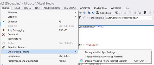 Debugging Internet Explorer on Windows Phone 8 1 - Nick's