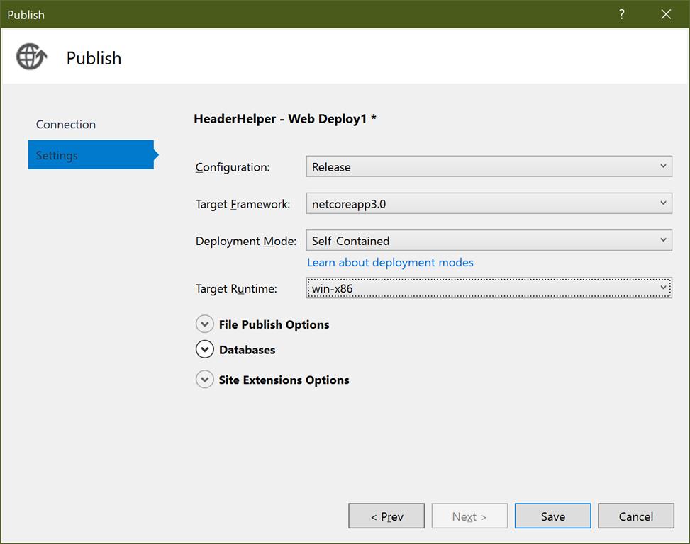 Publishing ASP NET Core 3 Web API to Azure App Service with
