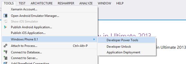 Windows Phone 8 1 Developer Power Tools - Nick's  NET Travels
