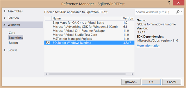 Windows (RT and Phone) and Sqlite (Part 2)