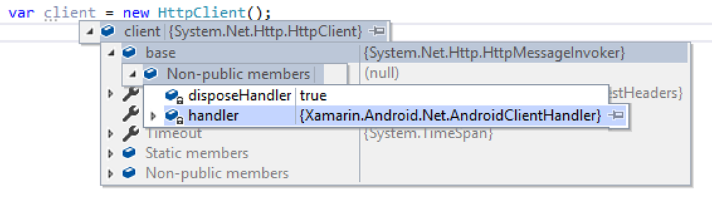 Xamarin and the HttpClient For iOS, Android and Windows