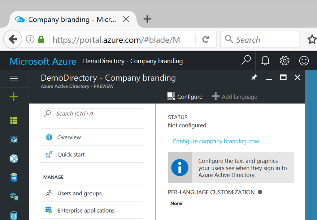 improving the azure active directory sign on experience