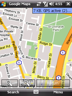 Google Maps V's Live Search for Windows Mobile