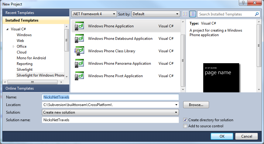 Windows Phone 7, Android and iOS with Mono I: Getting