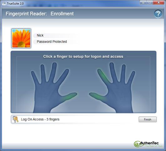 Authentec aes1610 fingerprint reader software for windows 7.