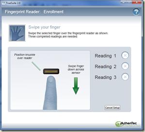authentec fingerprint sensor software download